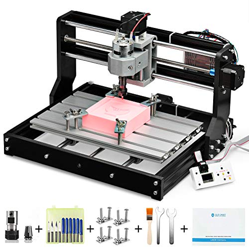Genmitsu CNC 3018-PRO Router Kit GRBL Control 3 Axis Plastic Acrylic PCB PVC Wood Carving Milling Engraving Machine, XYZ Working Area 300 x 180 x 45mm