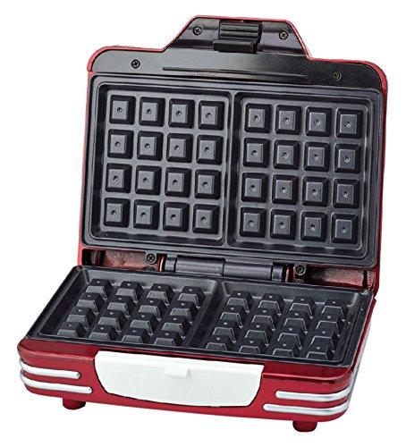 Ariete 187 Waffle Maker - Piastra elettrica antiaderente per waffle, 700W, Riponibile in verticale,...