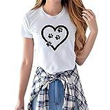 T-Shirt Femme Imprimé Col Rond Manches Courtes DéContractéEs LâChe Top Haut Simple D'éTé pour Femmes Couleur Unie Tee Shirt KaloryWee