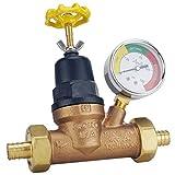 Apollo Valves APXPRV34WG Water Pressure Regulator w/Gauge, Bronze