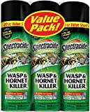Spectracide Wasp and Hornet Killer, 20 oz Aerosol, up to 27 Ft Jet Spray (Pack of 3)
