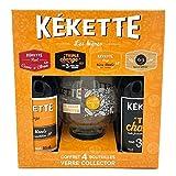 COFFRET 4 BIERES KEKETTE 33CL + 1 VERRE COLLECTOR