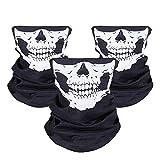 Masque de Crâne, JTDEAL 3Pcs Masque Tête de Mort, Masque de Visage en...