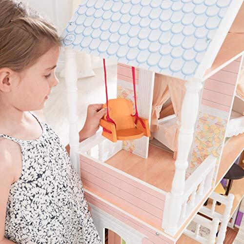 Image 6 - Kidkraft - 65023 - Maison de Poupées en Bois Savannah Incluant Accessoires et Mobilier, 4 Étages de Jeu pour Poupées 30 cm