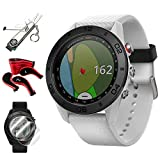 Garmin Approach S60 Golf Watch White w/White Band + Screen Protector (2-Pack) + 7-in-1...