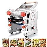 ELEOPTION 110V Stainless Steel Electric Noodle Making Pasta Maker, Commercial Dough Roller Noodle Cutting Machine(Noodle Width 24CM, Knife Length 24CM, Cutter 2mm/6mm)