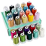 New brothread 30 New Colors Polyester Embroidery Machine Thread Kit 500M (550Y) Each Spool - Assortment 2