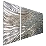 Statements2000 Abstract Etched 3D Metal Wall Hanging Panel Art...