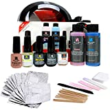 Red Carpet Manicure Pro 45 LED Gel Nail Polish Kit Soak Off Starter...