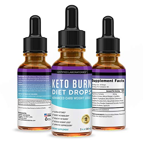 Keto Diet Supplement Drops Shred Burn Ketones for Faster Ketosis Weight Loss Appetite Suppressant Loose Unwanted Belly Fat Raspberry Ketone African Mango Advanced Dietary Blend Made in USA 10 Bottles 5