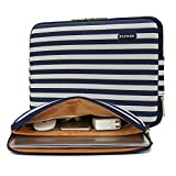Kayond Canvas Water-Resistant 15 inch Laptop Sleeve,15.6 inch 15 inch Laptop Case Carrying Notebook Bag Compatible for ThinkPad MacBook (15-15.6 inches, Breton Stripe)