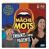 Hasbro Mâche-Mots - Jeu de societe Mâche-Mots Enfants Contre Parents - Jeu drole de rapidité -...