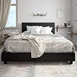Carley Upholstered Bed, Black, Queen