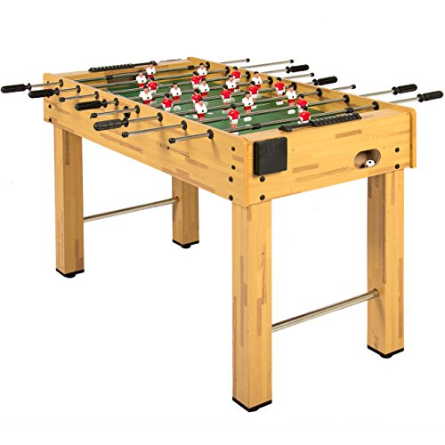 Best Choice Products 48-Inch Competition Sized Foosball Table w/ 2 Balls, 2 Cup Holders, Natural