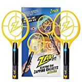 ZAP IT! Bug Zapper Twin Pack - Rechargeable Mosquito, Fly Killer and Bug Zapper Racket - 4,000 Volt - USB Charging, Super-Bright LED Light to Zap in The Dark - Safe to Touch … (Twin Medium)