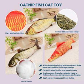 PetCakes-Cat-Organic-Birthday-Cake-Kit-Turkey-Flavor-Cat-Treats-5oz-3-Piece-Catnip-Fish-Cat-Toy-Pets-Pillow-Chew-Plush-Toys-Happy-Birthday-Hat-Gold-Cone-Yellow-Balls-Cat-Costume-Pet-Party-Supplies