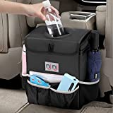 Waterproof Car Trash Can Garbage Bin,Super Large Size Auto Trash Bag for Cars with Lid and Storage...