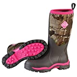 Muck Woody PK Rubber Women's Hunting Boots,Bark, Realtree XTRA/Hot Pink,7 US/7-7.5 M US