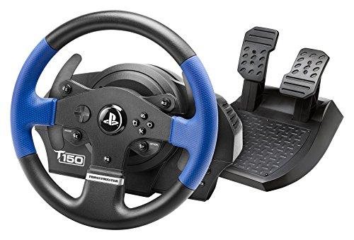 Thrustmaster T150 - volant de course ergonomique avec pédales, Retour de Force réactif - pour PS4 et PC - Fonctionne avec les jeux PS5