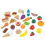 KidKraft 63509 Ensemble fruits, légumes et accessoires en plastique, dînette enfant, jeu...