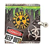 Playhouse Radioactive Glow in The Dark Lock & Key Lined Page Diary for Kids