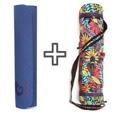 mantrafant Guru Elite Yogamatte mit Tasche | vegan und schadstofffrei | XL Yoga Set Eco | nachhaltig aus Naturmaterial Öko TPE