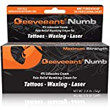 Deeveeant Numbing Cream Lidocaine Anesthetic (2oz/56g) Topical Pain Relief - Tattoos, Laser, Waxing, Microblading, Microneedling US FDA - Child Resistant Cap
