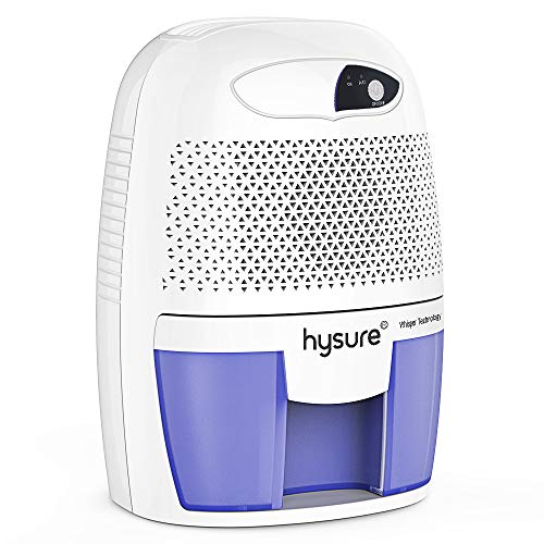 hysure Electric Small Dehumidifier, 2200 Cubic Feet (215 sq ft), Compact and Portable for High Humidity with Auto Shut Off
