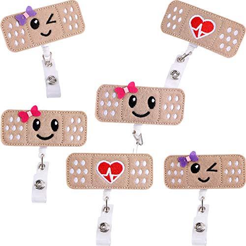 6 piezas de la enfermera Badge Reel Holder Nombre retráctil Badge Holder Badge Reel Clip con Alligator Clip para enfermeras regalos