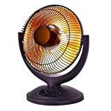 COSTWAY DR-22613-PE Space Heater W/Timer Safety Shut-Off Electric Parabolic Oscillating Home Office, Black