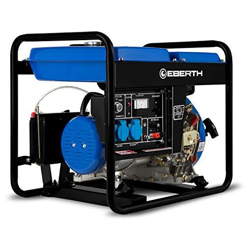 EBERTH 3000 Watt Diesel Stromerzeuger (E-Start, 5,7 PS...