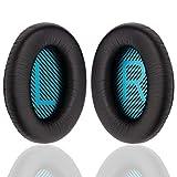 YOCOWOCO Cushions Bose Replacement Ear Pads Kit- Ear Cups for QuietComfort 2 15 25 35 QC2 QC15 QC25 QC35, AE2,AE2i, AE2w, SoundTrue, SoundLink(Around-Ear) Headphones, Black