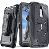 LG K10 / LG Premier LTE - COVRWARE Case [Aegis Series] with Built-in [ Screen Protector ] Heavy Duty Full-Body Rugged Holster Armor Cover [Belt Clip] [ Kickstand ] - Black/Black
