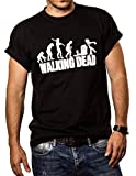 MAKAYA Zombie Evolution - Maglietta Walking Dead - T-Shirt Uomo Nera L