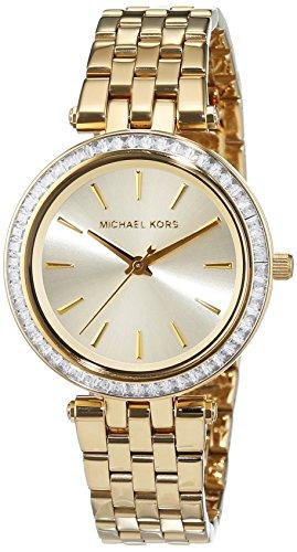 Michael Kors Damen Analog Quarz Uhr mit Edelstahl Armband MK3365