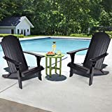 Folding Chair with Arm Rest Outdoor Chair Adirondack Folding Chair Adirondack Folding Hardwood Chair with Cup Holder Lawn Chair for Indoor &outdoor Beach Natural Solid Wood 33x32.3x25.2 in Black