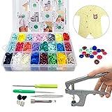 SUNTATOP 360pcs Boutons Pressions Plastiques T5 24 coloris + lot de Pince...