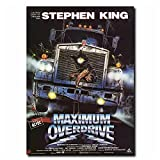 JLFDHR Maximum Overdrive 90 S Stephen King Film Peinture Art Affiche Impression Toile Décor À La Maison Photo Impression Murale-50X70Cmx1 Pas De Cadre