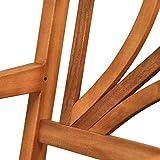 Gartenmöbel Set Lotus Garten Garnitur Sitzgruppe aus Holz 4-teilig Tisch Gartenbank 2 x Stuhl - 6