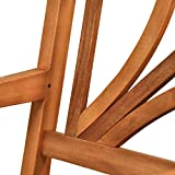 2x Gartenstuhl Lotus Gartenmöbel Gartensessel Holz, braun - 7