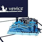 'Carte Pop Up 'Venise–Panorama & gondel Fahrt–3d Carte de vœux...