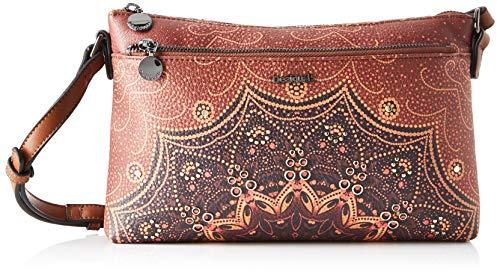 Desigual Bag Tekila Sunrise Durban, Bolso para Mujer, Marrón (Cognac), 17.5 x 4 x 27.2 cm (B x H x T)