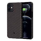 「PITAKA」MagEZ Case iPhone 12 対応 ケース アラミド繊維製 カーボン風 デザイン 極薄(0.85m……