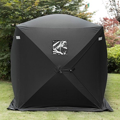 Popsport 2 Person Ice Fishing Shelter Tent 300d Oxford Fabric Portable Ice Shelter Strong Waterproof...