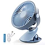 SmartDevil Mini Ventilateur à Clipper, Ventilateur USB de Bureau avec Batterie...