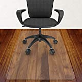 Azadx Home Office Chair Mat 36' X 48', Transparent Hard Floors Protector Rectangle, Office Chair Mats for Hard Surfaces (36 x 48'' Rectangle)