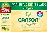 Canson 200002763 Pochette à Grain A4 Blanc