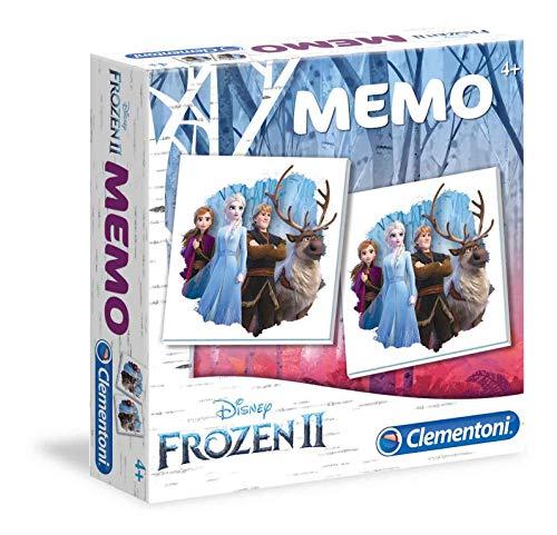 Clementoni - 18052 - Memo Game - Disney Frozen 2, gioco di memoria e associazione, gioco educativo bambini 3 anni, gioco da tavolo per bambini - Made in Italy