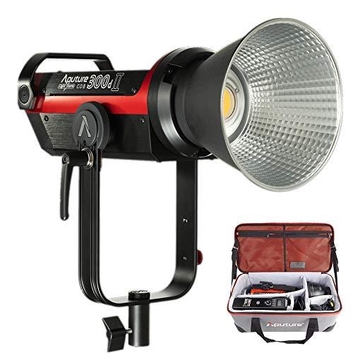 Aputure LS C300d Ⅱ 350W TLCI96 CRI96 LED定常光ビデオライト 8プログラム照明効果 55000lux@0.5M 色温度5500K 2.4G 100m遠隔制御機能 無段階調光 撮影用ライト