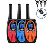 Walkie Talkies 3 Pack Long Range 3 Mile Kid Walkie Talkies 3 Pack 22 Channel High Sound Quality FRS Walky Talky No License for Kids Boys Girls, Birthday Christmas Gift